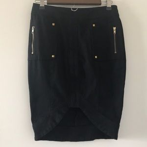 XOXO fitted black skirt